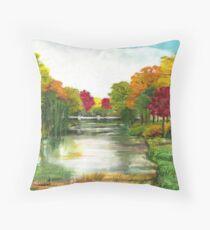 Autumn in Amersfoort Throw Pillow