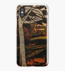 paper trees & pod birds  iPhone Case/Skin