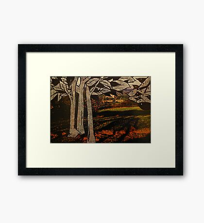 paper trees & pod birds  Framed Print