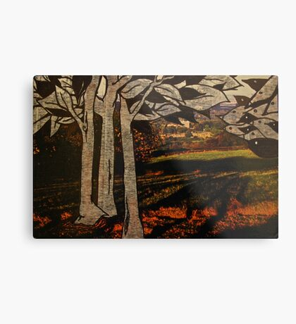 paper trees & pod birds  Metal Print
