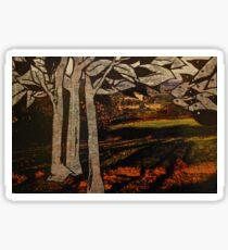 paper trees & pod birds  Sticker