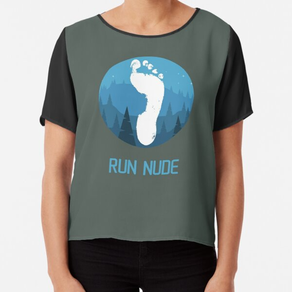 Run nude - mountains Chiffon Top