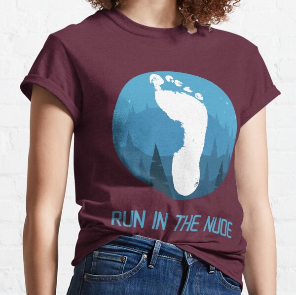 Run in the nude - mountains Classic T-Shirt