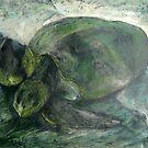 Sea Turtle II by Marcie Wolf-Hubbard