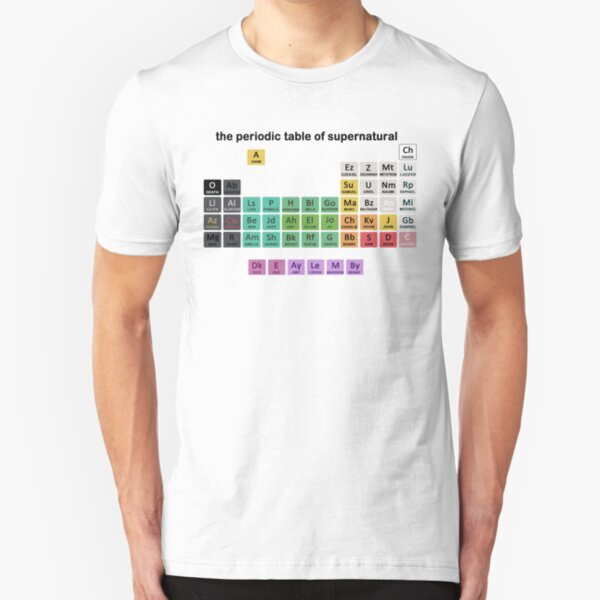 The Periodic Table Of Supernatural Slim Fit T-Shirt