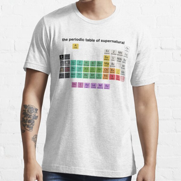 The Periodic Table Of Supernatural Essential T-Shirt