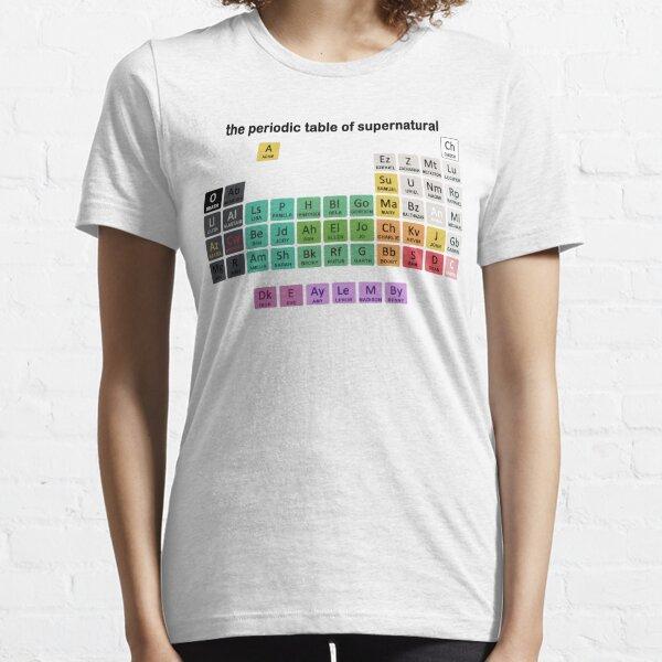 La tabla periódica de lo sobrenatural Camiseta esencial