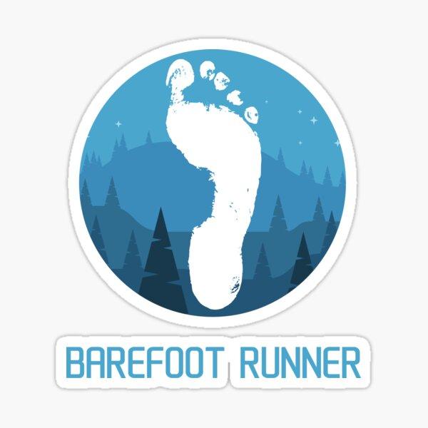 Barefoot runner - mountains Sticker