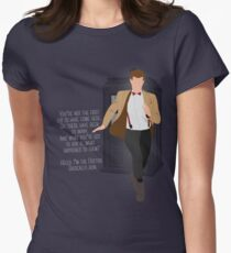 11th Doctor - Basically, Run! Quote Women's Fitted T-Shirt