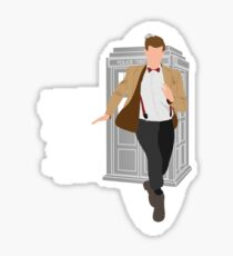 11th Doctor - Basically, Run! Quote Sticker
