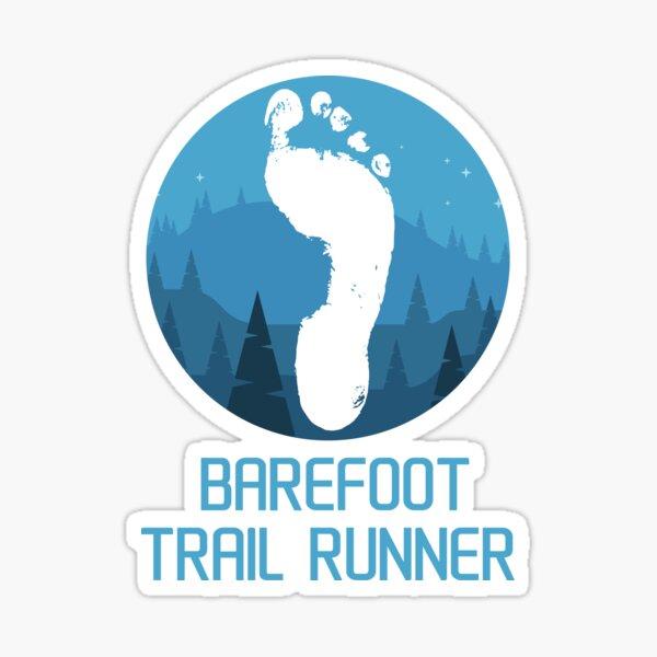 Barefoot trail runner - mountains Sticker