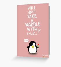 Valentine's Day Card (PENGUIN) Greeting Card