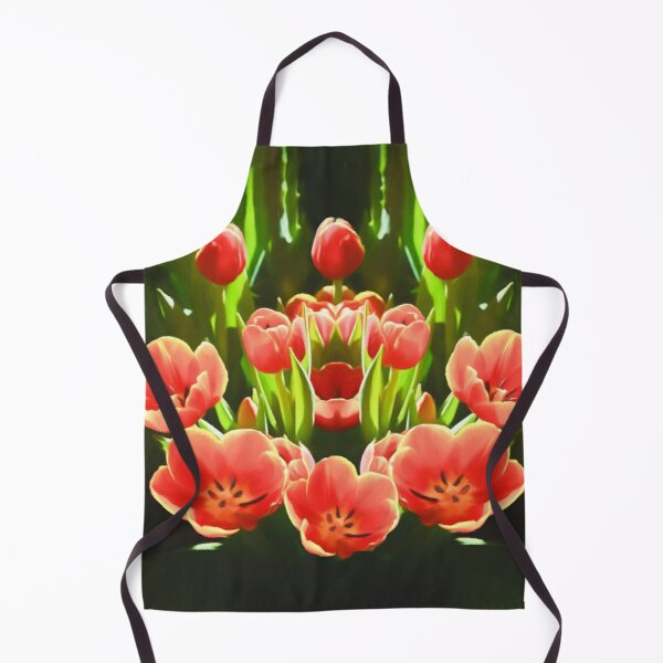 Tulips (digital painting) Apron