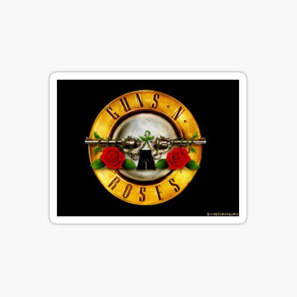 Pistolas y rosas, pegatina de banda Pegatina