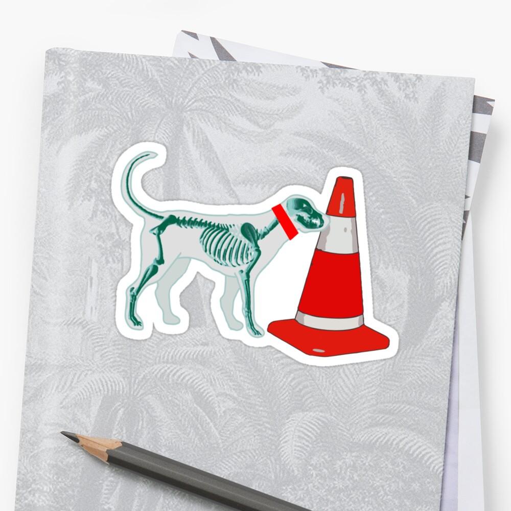 DOG & TRAFFIC RUBBER CONE by SofiaYoushi