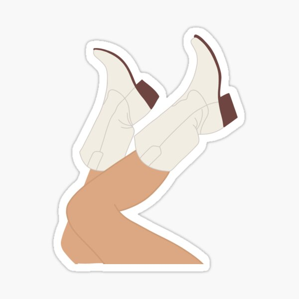 Kick It Cowgirl Sticker