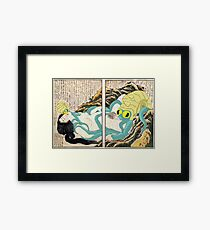 Diving Woman and Omastar Framed Print