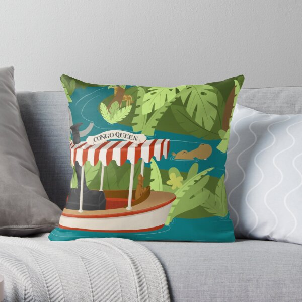 Cruising the jungle Throw Pillow