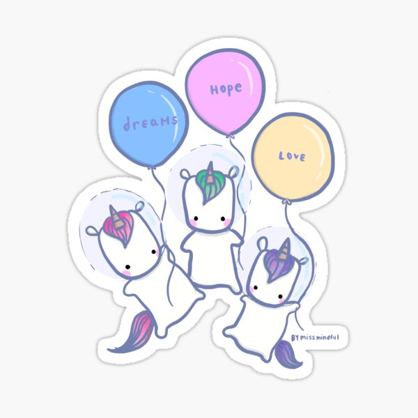 Let's See Where We Can Go - Unicorns Sticker