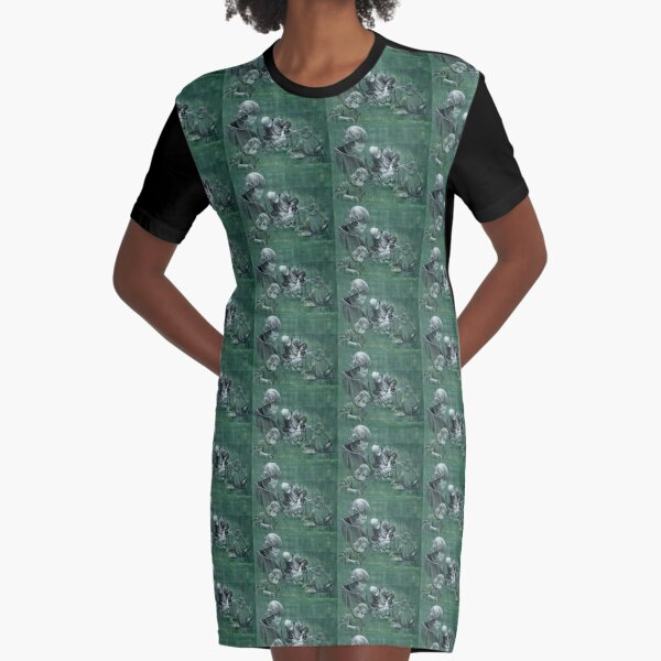 A Gift - watercolour charcoal pastel by Avril Thomas Graphic T-Shirt Dress