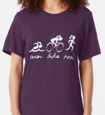 Swim bike Run Girl Slim Fit T-Shirt
