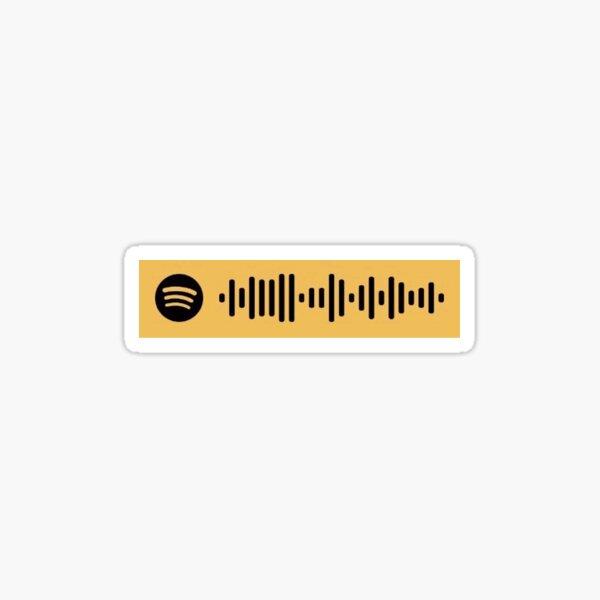 bon iver roslyn spotify scan Sticker