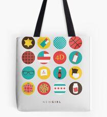 New Girl Things Poster Tote Bag
