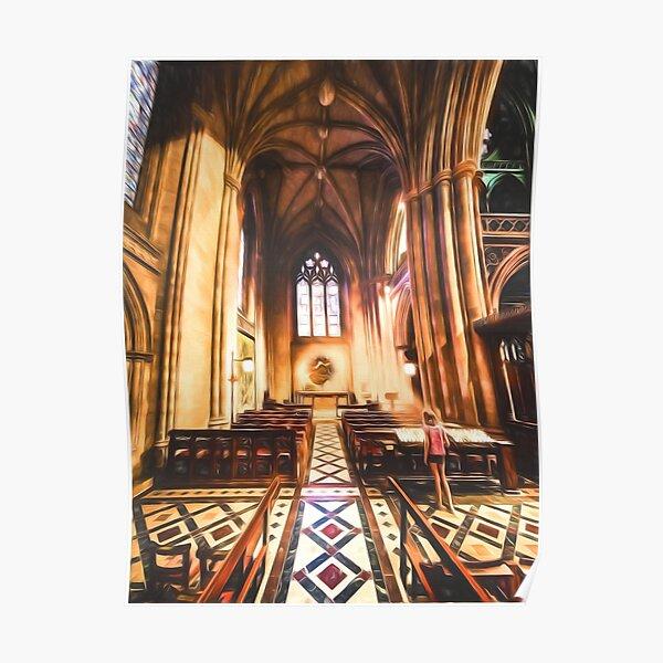 Divine Light (digital painting) Poster