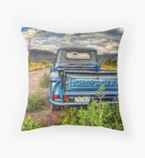 On a Dirt Road Throw Pillow