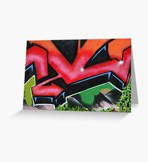 Graffiti close up - Greeting Card