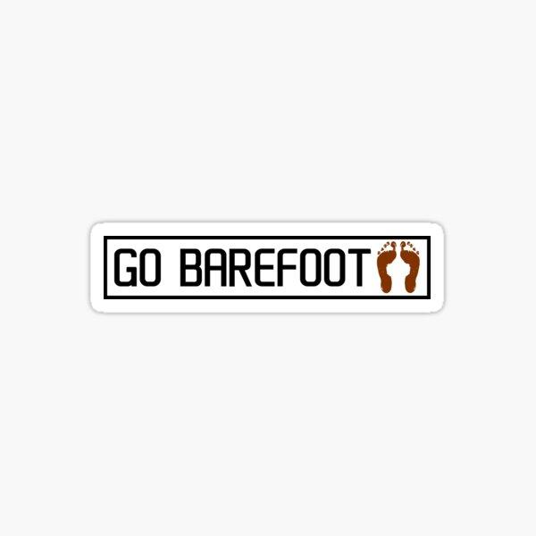 Go barefoot Sticker