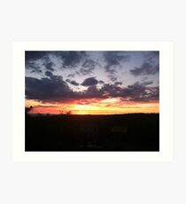 Sunset in the Steens Art Print