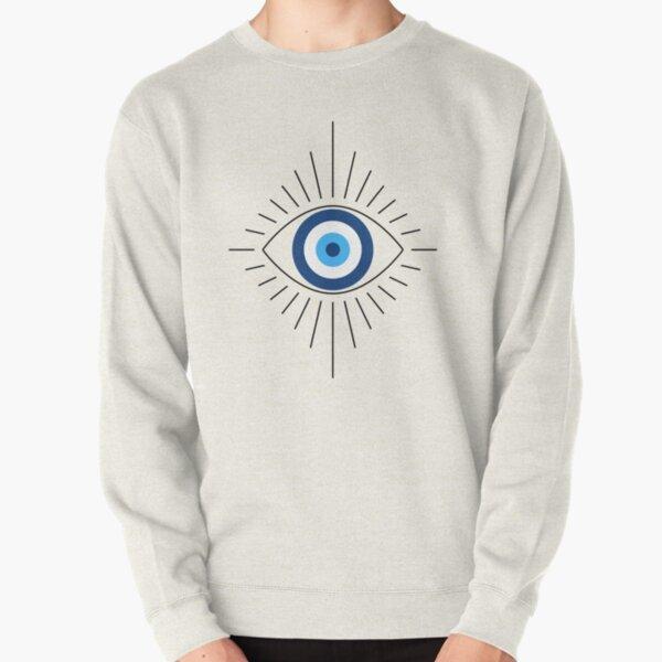 evil eye pattern pullover evil eye gift third eye pattern sweatshirt Retro evil eye sweatshirt Evil Eye Pattern Pullover