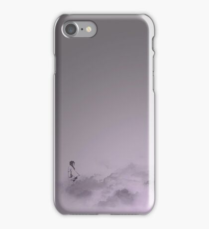 girl in the sky iPhone Case/Skin