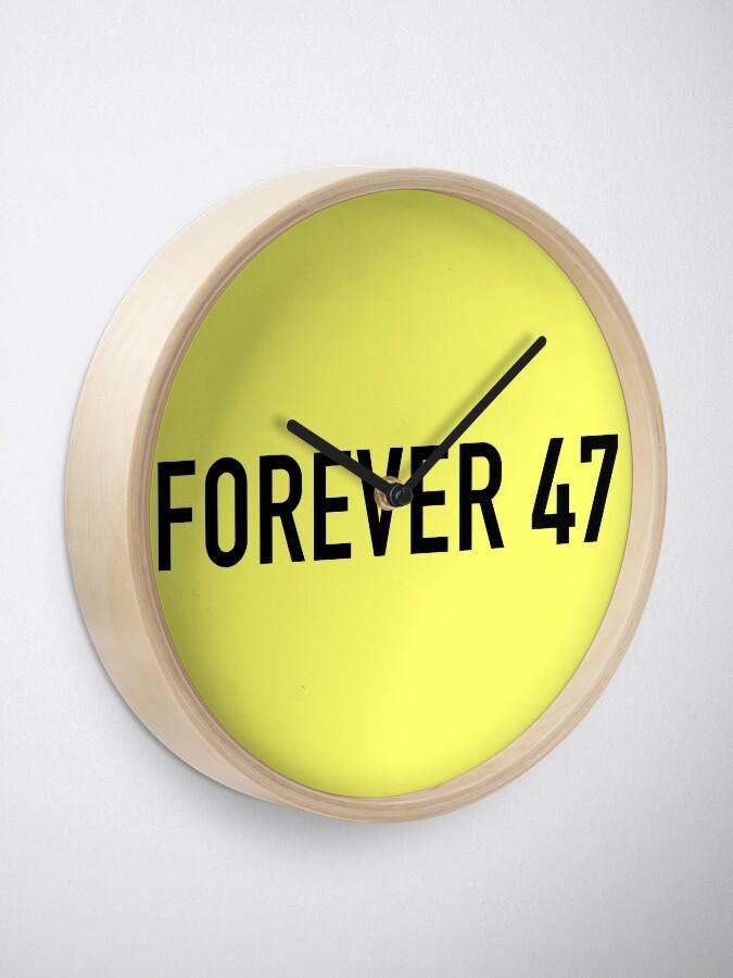 Alternate view of Forever 47 Clock