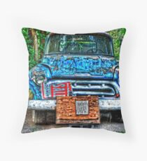 Truck and Eggs for Sale Throw Pillow
