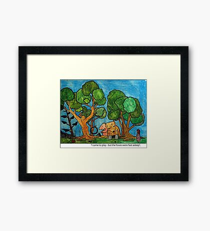 Fast asleep Foxes Framed Print
