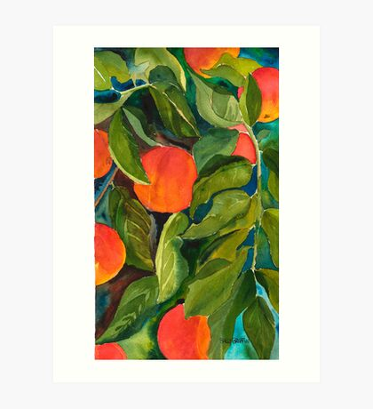 Valley Peaches Art Print