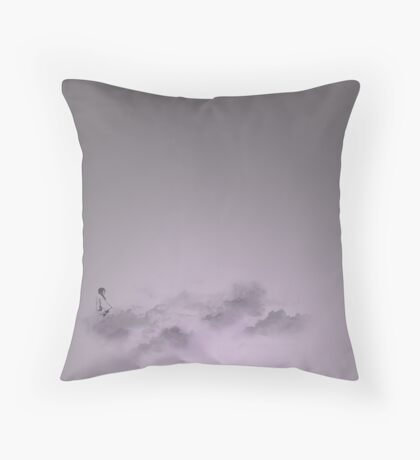 girl in the sky Throw Pillow
