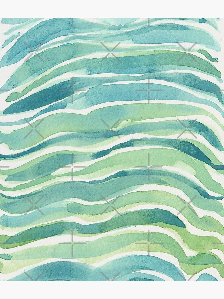 Blue Ocean Waves by ebozzastudio