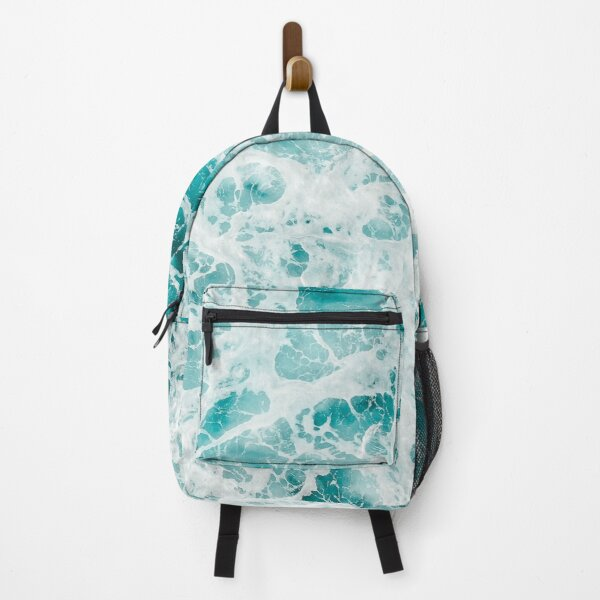 blue ocean wave  Backpack