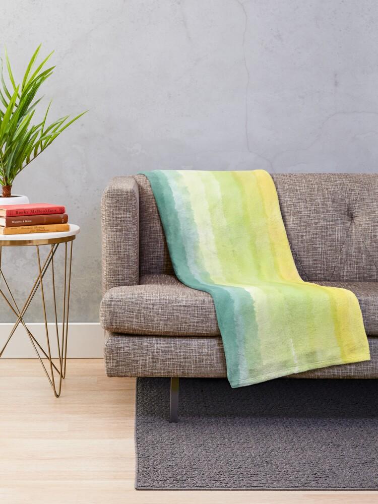 Alternate view of Retro breeze _ watercolour Throw Blanket