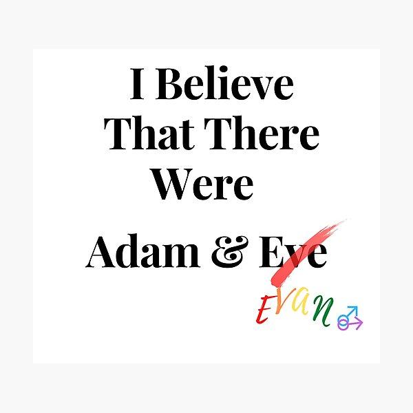 Adam&Evan Photographic Print