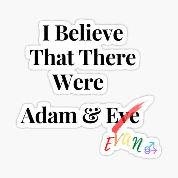 Adam&Evan Sticker