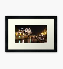 Notre Dame by Night Framed Print