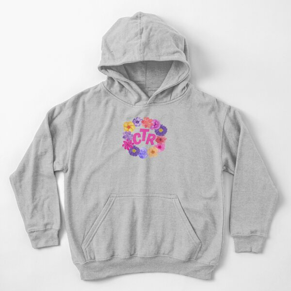 CTR - watercolor flowers Kids Pullover Hoodie