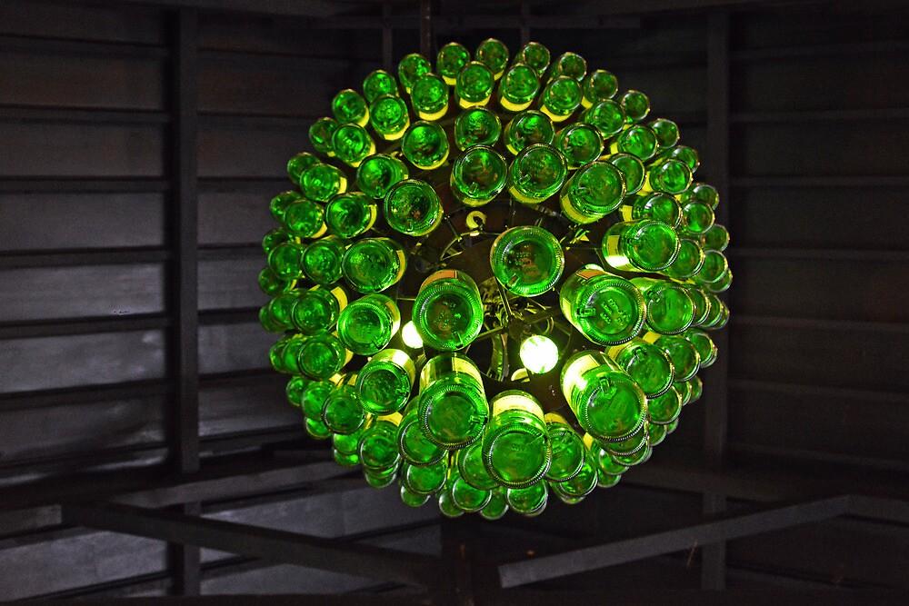 Under the whiskey-bottle-lamp by Arie Koene