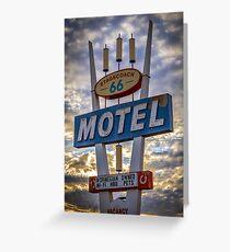Stagecoach Motel Greeting Card