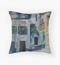 Skopelos Town ,Greece Throw Pillow
