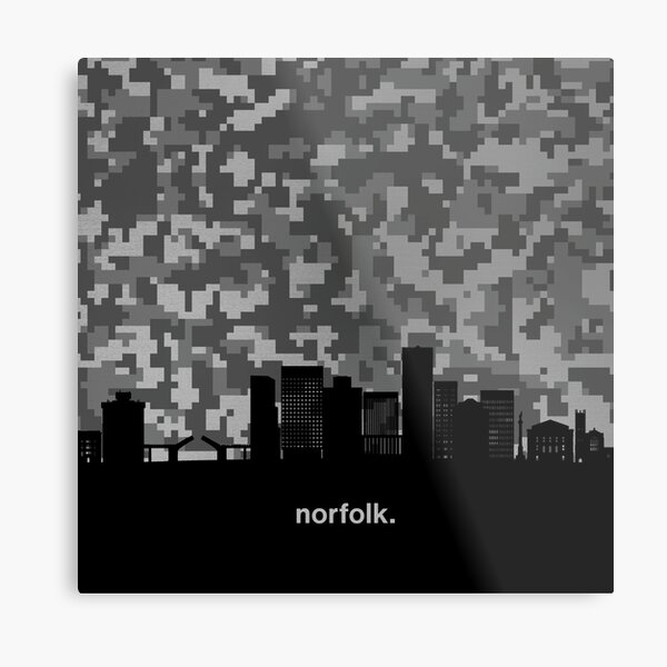 My heart beats for United States of America, Norfolk  Metal Print